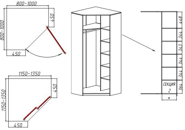 Как сделать угловой шкаф-купе своими руками