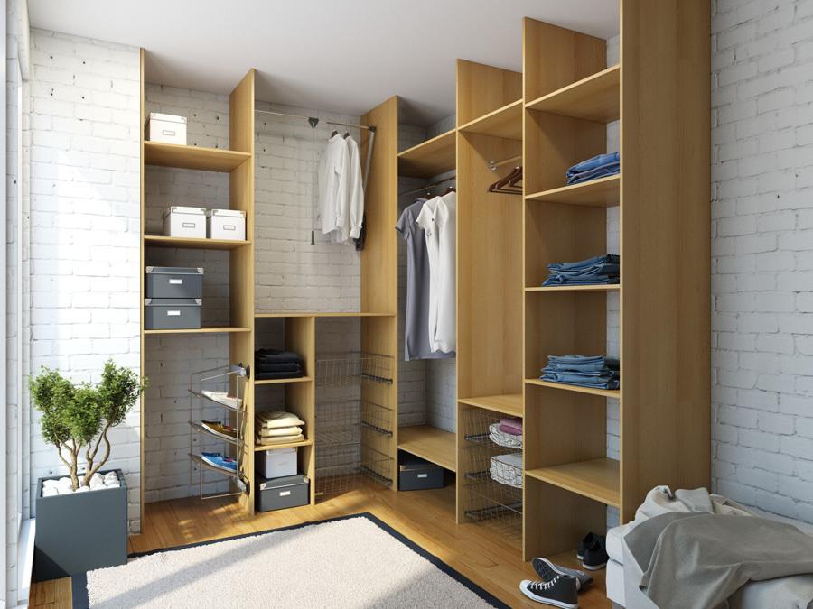 Заказать гардеробную на заказ по низким ценам мебельная фабр.